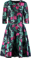 Oscar de la Renta Floral-jacquard dress