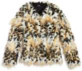 Bardot Junior Girls' Leopard Print Faux-Fur Coat