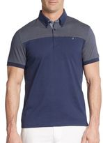 Ben Sherman Pindot-Panel Cotton Polo Shirt