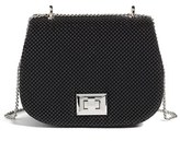 Whiting & Davis Bubble Mesh Saddle Bag - Black