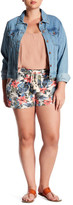 Jolt Tropical Print Short (Plus Size)