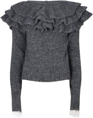 Philosophy di Lorenzo Serafini Ruffle Neck Knitted Sweater