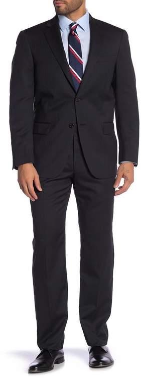 Hart Schaffner Marx Pinstripe Worsted Wool Suit