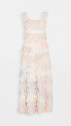 Needle & Thread Floral Diamond Ruffle Dress