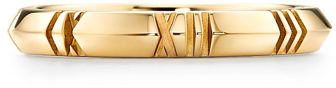Tiffany & Co. Atlas X Closed Narrow Ring in Yellow Gold, 3 mm Wide