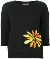 Moschino floral embroidery sweater