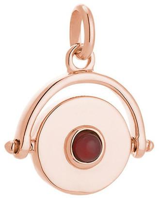 Mocha Protection Spinner Charm - 18K Rose Gold Vermeil