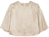 Sonia Rykiel Crinkled-satin Top - Beige