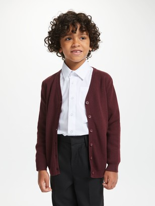 John Lewis & Partners Unisex Cotton Easy Care V-Neck Cardigan