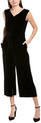 Rebecca Taylor Velvet Silk-Blend Jumpsuit