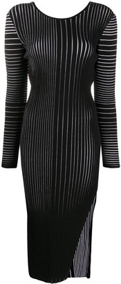 Marco De Vincenzo Side Slit Knitted Dress