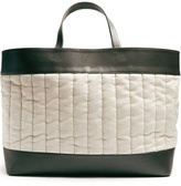 HECHO Barragán large linen and leather tote