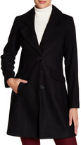 CeCe by Cynthia Steffe AVA A-Line Three Button Wool Blend Coat