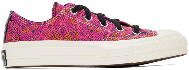 Thumbnail for your product : Converse Pink & Purple Snake Chuck 70 Ox Low Sneakers