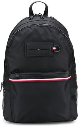 Tommy Hilfiger Front Logo Patch Striped Backpack