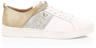 Jack Rogers Ainsley Mixed Media Leather Sneakers
