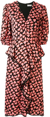 Rebecca Vallance Hotel Beau heart-print dress