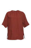 Marni Short Sleeve Crew Neck Blouse