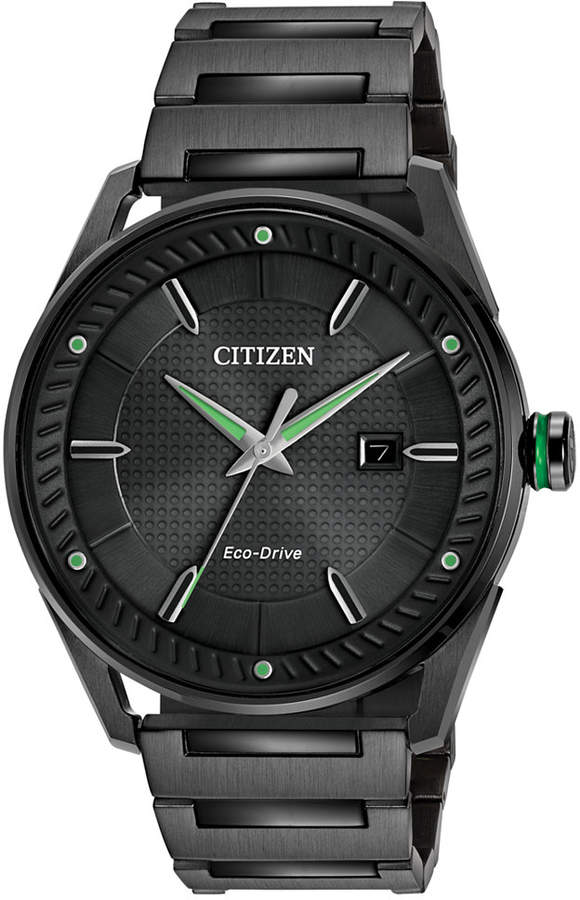 Citizen Drive from Eco-Drive Men's Black Ion-Plated Stainless Steel Bracelet Watch 42mm BM6985-55E