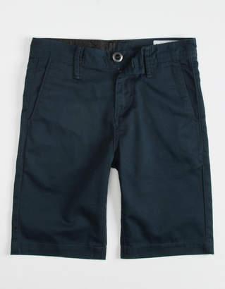 Volcom Frickin Drifter Boys Navy Shorts