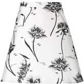Markus Lupfer floral print A-line skirt
