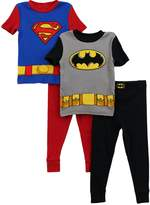 DC Comics Batman Superman Boys 2 pack Pajamas Set S4PBA51