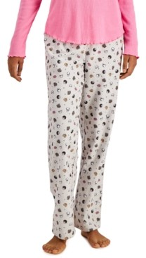 Jenni Printed Cotton Flannel Pajama Pants, Created for Macy's