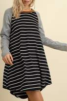 Umgee USA Striped T-Shirt Dress