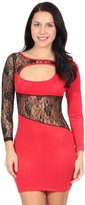 Simplicity Lace Cutout Hungging Mini Bodycon Dress