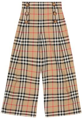 BURBERRY KIDS Tilda Vintage Check cotton pants