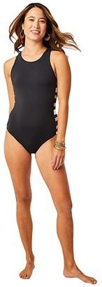 Carve Designs Inverness One-Piece (Black/Broadstripe) Women's Swimsuits One Piece