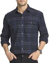 Van Heusen Long-Sleeve Shadow-Plaid Shirt