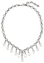 Ben-Amun Women's Pearl Drop Bridal Wedding Necklace with Swarovski Crystal of Length 40.64-45cm