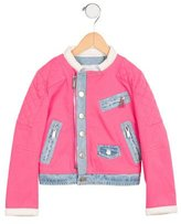 DSQUARED2 Girls' Denim-Accented Quilted Jacket w/ Tags