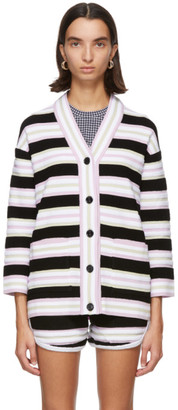 Fendi Multicolor Terrycloth Striped Cardigan