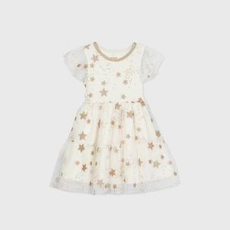 Cat & Jack Toddler Girls' Glitter Star Short Sleeve Dress - Cat & JackTM
