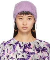 Marc Jacobs Purple Furry Beanie