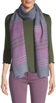Saachi Striped Wool Silk Scarf