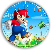"Ikea New Super Mario games Wall Clock 10""Nice Gift Wall Decor W21"