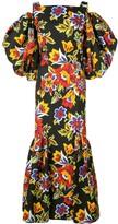 Carolina Herrera cold shoulder floral dress