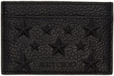 Jimmy Choo Black Dean Star Card Holder