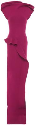 Rick Owens Sarah Open-back Draped Stretch-knit Maxi Dress