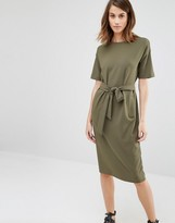 Warehouse Tie Waist Midi Dress