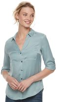 Rock & Republic Women's Satin Blouse