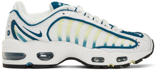Nike White and Blue Air Max Tailwind IV Sneakers