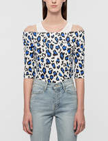Rocket X Lunch Leopard Off-Shoulder Top