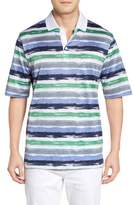Bugatchi Men's Brushstroke Stripe Polo