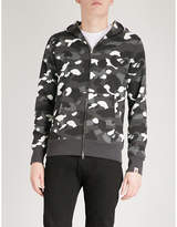A Bathing Ape Shark head-print cotton-jersey hoody