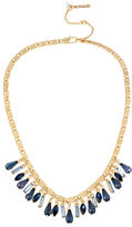 Kenneth Cole New York Blue Rays Mixed Shaky Faceted Stone Frontal Necklace