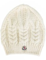 Moncler cable knit beanie hat